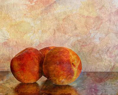 Peach Trio  Poster by Heidi Smith