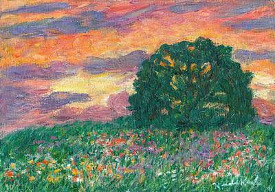 Peachy Sunset Poster by Kendall Kessler