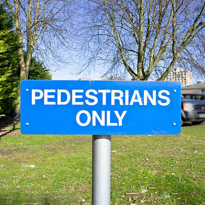 Pedstrians Only Poster by Tom Gowanlock