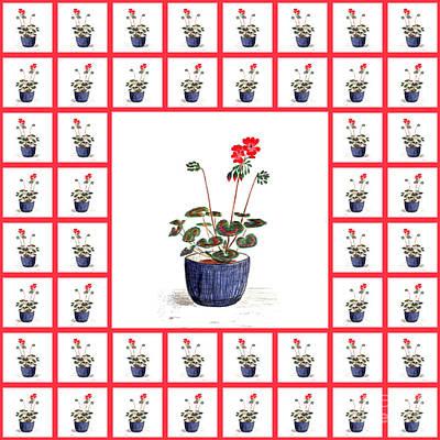 Pelargonium Poster by Barbara Moignard