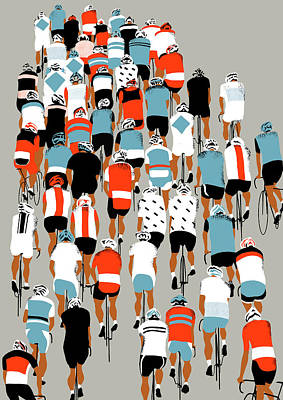 Peloton Poster by Eliza Southwood