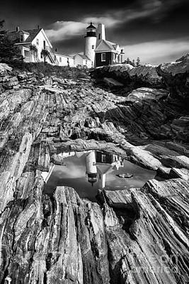 Pemaquid Light Reflections Poster by George Oze