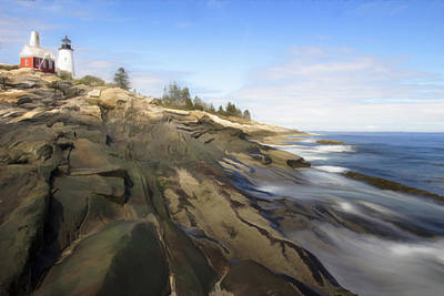 Pemaquid Lighthouse 7 Poster by Patsy Zedar
