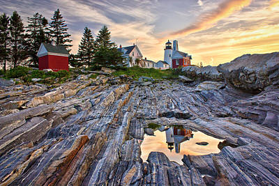 Pemaquid Lighthouse Reflection Poster by Benjamin Williamson