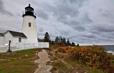 Stormy Autumn Day At Pemaquid Point Lighthouse Poster by David Smith