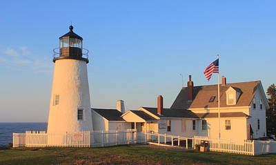 Pemaquid Point Lighthouse Maine Poster by John Burk