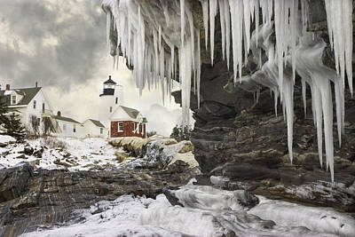 Pemaquid Point Lighthouse On The Maine Coast Poster by Keith Webber Jr