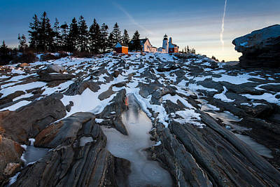 Pemaquid Rocks Poster by Don Seymour