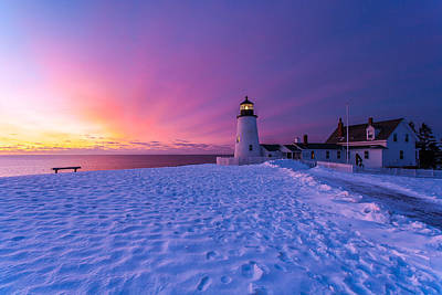 Pemaquid Sunrise Poster by Don Seymour