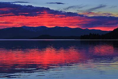 Pend Oreille Sunset Poster by Benjamin Yeager