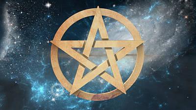 The Pentagram Poster by Barbara Ki