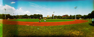 People Jogging In A Public Park Poster by Panoramic Images