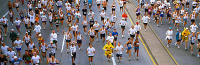 People Running In A Marathon, Chicago Poster by Panoramic Images