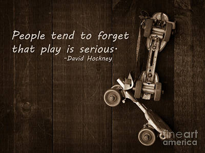People Tend To Forget That Play Is Serious Poster by Edward Fielding