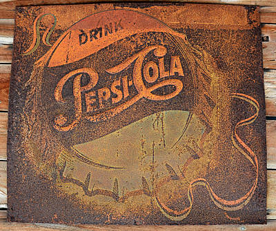 Pepsi Cola Rust Poster by David Lee Thompson