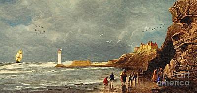 Perch Rock - New Brighton 1829 Poster by Lianne Schneider