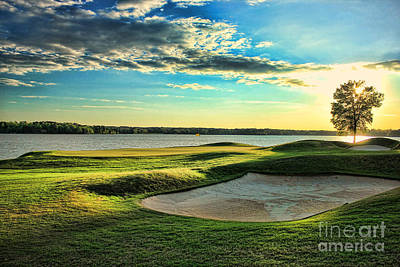 Perfect Golf Sunset Poster by Reid Callaway