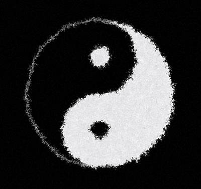 Perfect Imperfect Yin Yang Poster by Daniel Hagerman