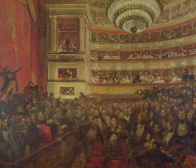 Performance Of Hernani By Victor Hugo Poster by Paul Albert Besnard
