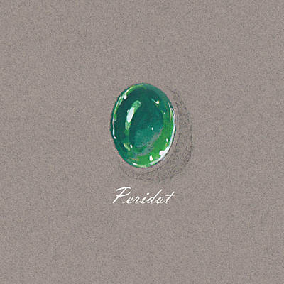 Peridot Cabochon Poster by Marie Esther NC