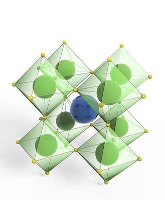 Perovskite Mineral, Molecular Model Poster by Science Photo Library