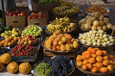 Peru, Pisac, Market Produce For Sale Poster by Jaynes Gallery