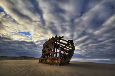Peter Iredale Shipwreck Sunrise Poster by Mark Kiver