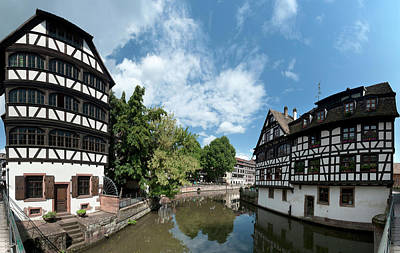 Petite France View From The Bridge Poster by Panoramic Images