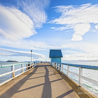 Petone Pier Wellington New Zealand Poster by Colin and Linda McKie