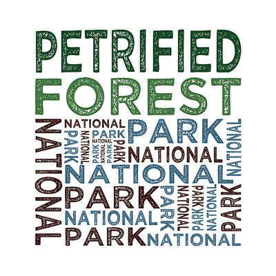 Petrified Forest National Park Poster by Flo Karp