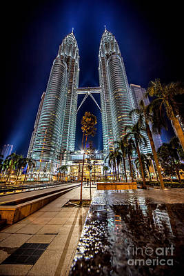 Petronas Twin Towers Poster by Adrian Evans