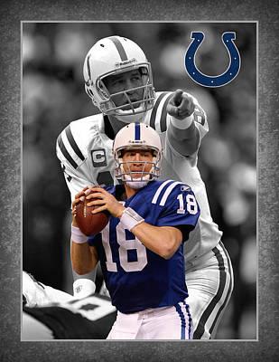 Peyton Manning Colts Poster by Joe Hamilton