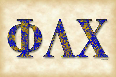 Phi Lambda Chi - Parchment Poster by Stephen Younts