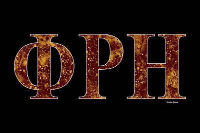 Phi Rho Eta - Black Poster by Stephen Younts
