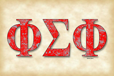 Phi Sigma Phi - Parchment Poster by Stephen Younts
