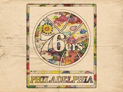 Philadelphia 76ers Poster Vintage Poster by Florian Rodarte