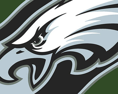 Philadelphia Eagles Football Poster by Tony Rubino
