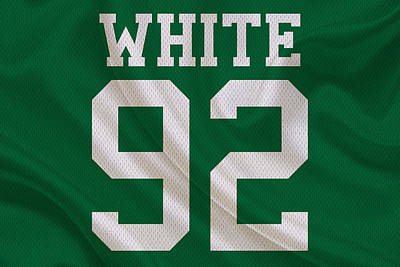 Philadelphia Eagles Reggie White Poster by Joe Hamilton