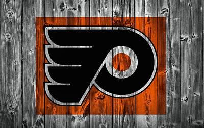 Philadelphia Flyers Barn Door Poster by Dan Sproul