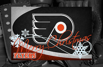 Philadelphia Flyers Christmas Poster by Joe Hamilton