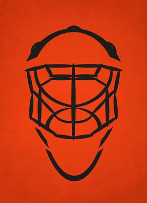 Philadelphia Flyers Goalie Mask Poster by Joe Hamilton
