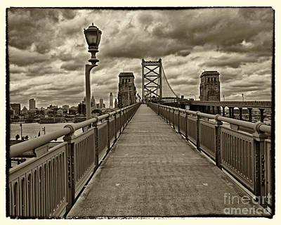Philadelphia From Ben Franklin Bridge 1 Poster by Jack Paolini