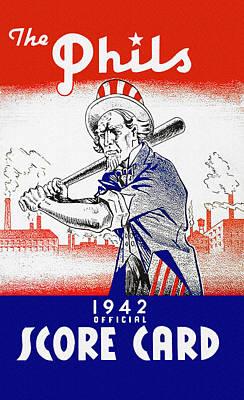 Philadelphia Phillies 1942 Score Card Poster by John Farr