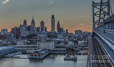 Philadelphia Skyline From Big Ben Poster by Mark Ayzenberg