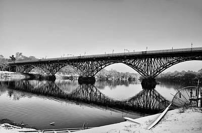 Philadelphia Winter - Strawberry Mansion Bridge Poster by Bill Cannon