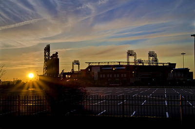 Phillies Citizens Bank Park At Dawn Poster by Bill Cannon