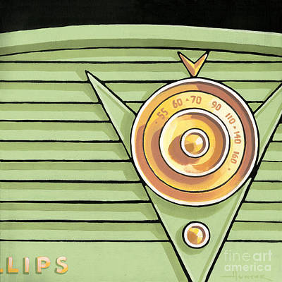 Phillips Radio - Green Poster by Larry Hunter