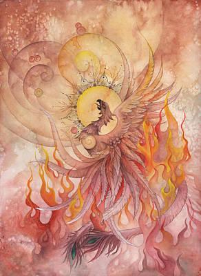Phoenix Rising Poster by Ellen Starr