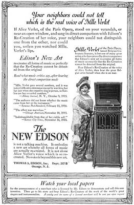 Phonograph, 1916 Poster by Granger