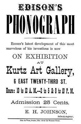Phonograph Ad, C1880 Poster by Granger